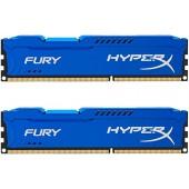 16GB (2x8GB) PC-12800 DDR3-1600 Kingston HyperX Fury (HX316C10FK2/16) Blue CL-10