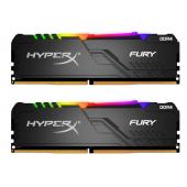 16Gb (2x8GB) PC-25600 DDR4-3200 Kingston HyperX Fury RGB (HX432C16FB3AK2/16) Black CL-16