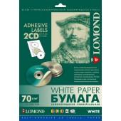 Самоклеящаяся бумага Lomond 2101013 (A4, 25 листов, 70 г/м2, для CD) 2части