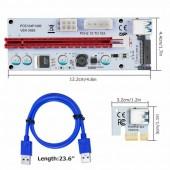 <PCE164P-N08 Ver008S> Адаптер PCI-Ex1 M -> PCI-Ex16 F