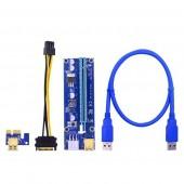 <PCE164P-N08 Ver009S> Адаптер PCI-Ex1 M -> PCI-Ex16 F