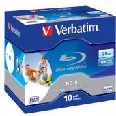 BD-R Disc Verbatim 25Gb 6x <уп.10 шт> на шпинделе, printable <43804>