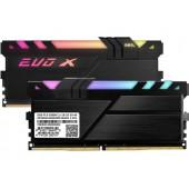 16GB (2x8GB) PC-25600 DDR4-3600 GeIL EVO X II (GEXSB416GB3600C18ADC) Black CL-18