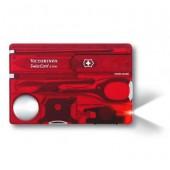 Швейцарская карта Victorinox SwissCard Lite 0.7300.T 13 функций полупрозрачный красный (блистер)