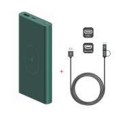 ZMI 10000mAh Wireless Charging USB-C Power Bank WPB01 green (ZMKWPB01CNGR)