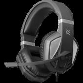 Гарнитура Defender Zeyrox (черный/серый), 64550